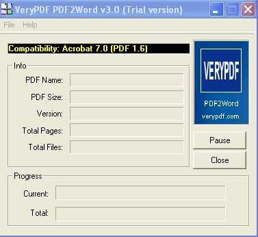 VeryPDF PDF to Word Converter