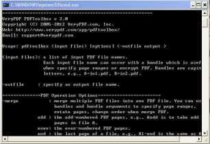 VeryPDF PDF Toolbox Command Line