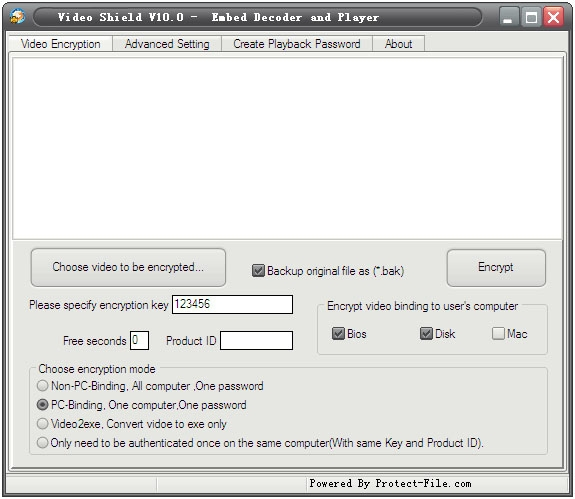 Video Shield - Embed decoder and player