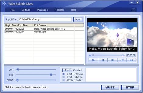 Download Video Subtitle Editor