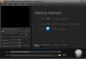 Download Video to Audio Converter Factory Pro