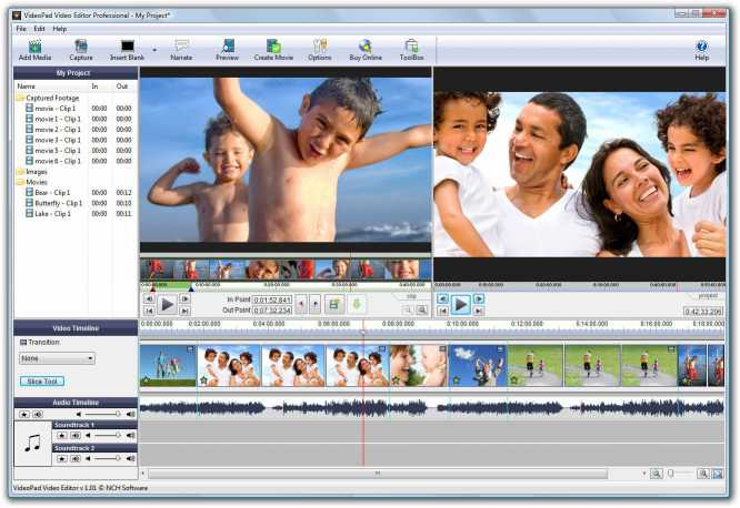 VideoPad Video Editor Professional