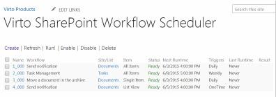 Download Virto SharePoint Workflow Scheduler