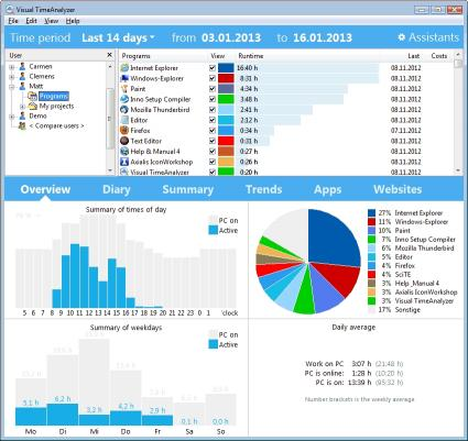 Download Visual TimeAnalyzer for time tracking