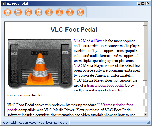 VLC Media Player Foot Pedal Utility - standaloneinstaller com
