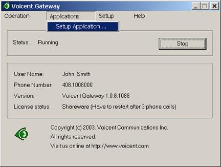Download Voicent VoiceXML Gateway