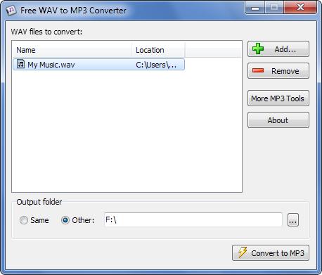 switch wav to mp3 converter free
