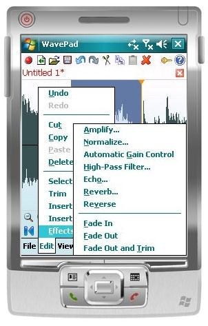 Download Wavepad Audio Editor for Pocket PC