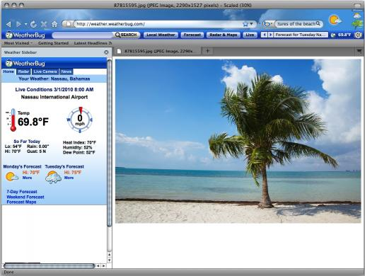 Download Weather Firefox Theme