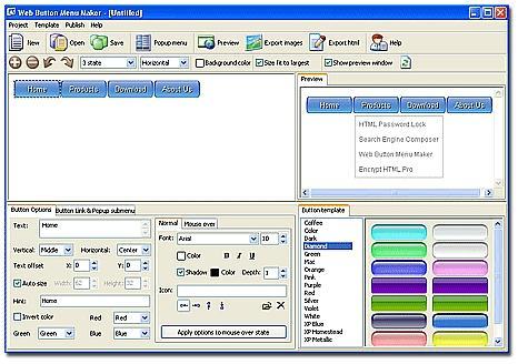 Download Web Button Menu Maker