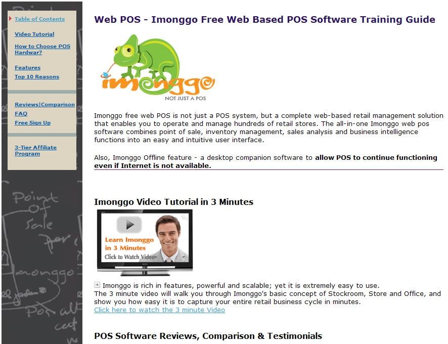 Web POS - Imonggo Free Web Based POS - standaloneinstaller com
