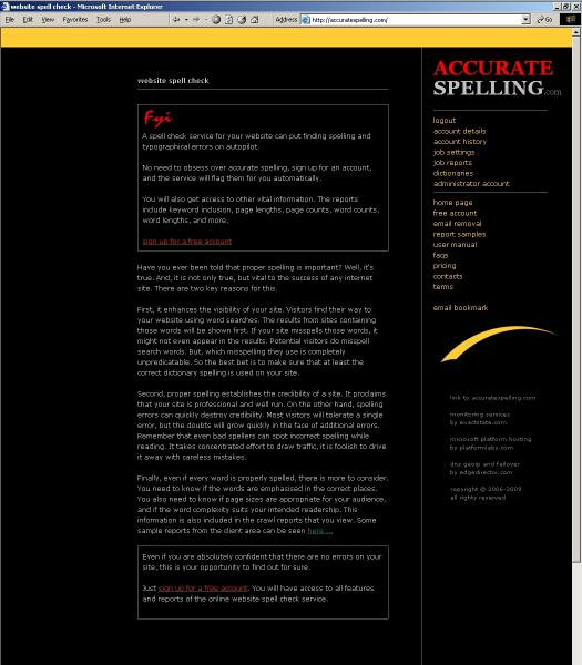 Download WEB SITE SPELL CHECK SERVICE