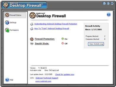 Download Webroot Desktop Firewall