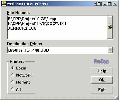 WFil2PRN - Windows File Printer