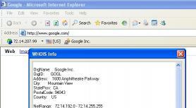 Download WHOIS Toolbar for Internet Explorer