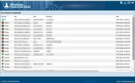 Windows Credentials Viewer