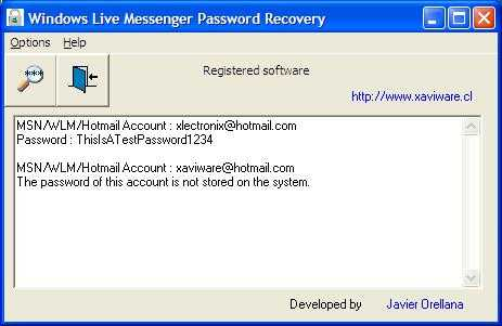 Download Windows Live Messenger Password Recovery