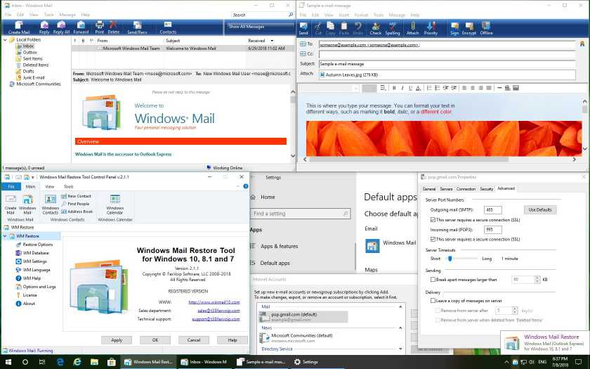 Windows Mail Restore Tool