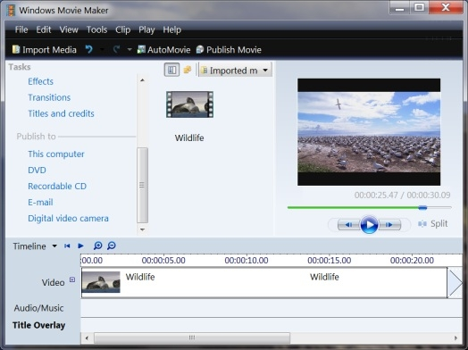 movie maker software free download xp
