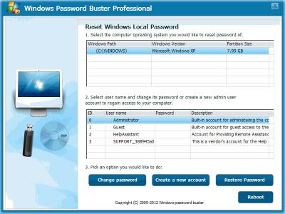 Download Windows Password Buster Professional