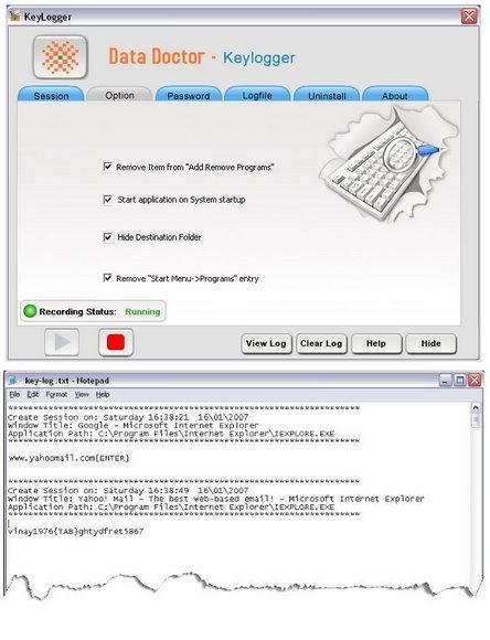 Download Windows XP Keylogger