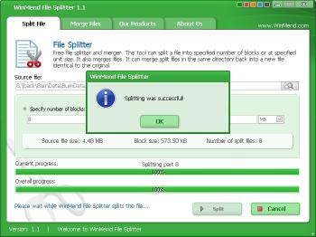 Download WinMend File Splitter