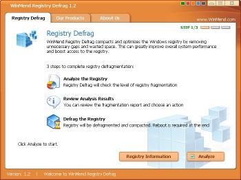 Download WinMend Registry Defrag