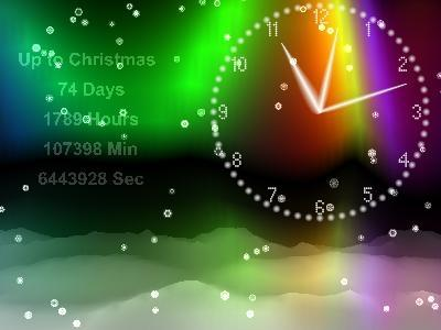 Download Winter Clock Screensaver