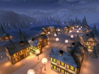 Download Winter Night 3D Screensaver