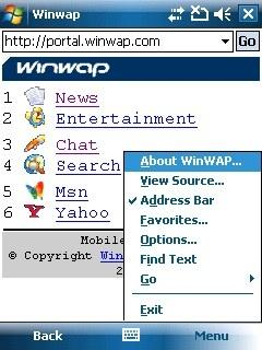 Download WinWAP for Windows Mobile Professional