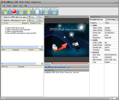 Download WinX-Media DVD iPod Video Converter