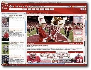 Download Wisconsin Badgers IE Browser Theme