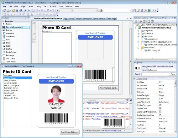 Download WPF Barcode Professional