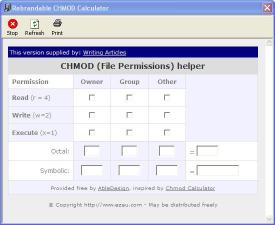 Download Writing Articles CHMod Calculator