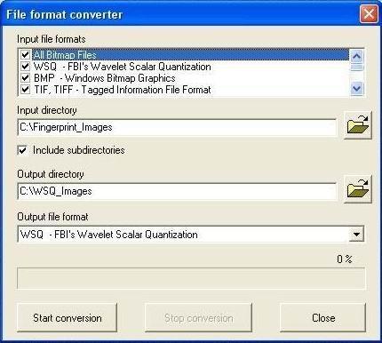 Download WSQ image library (for fingerprints)