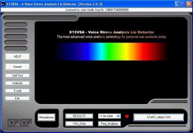 Download X13-VSA Voice Lie Detector