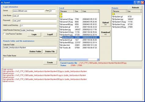 Download X360 Ftp ActiveX OCX - Full Source Code