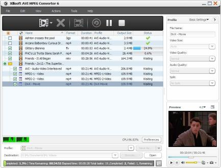Download Xilisoft AVI MPEG Converter