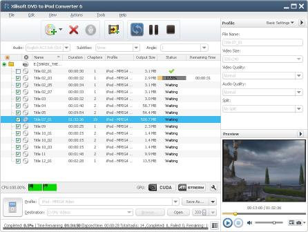 Download Xilisoft DVD to iPod Converter