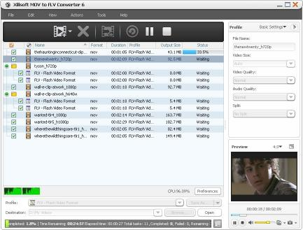 Download Xilisoft MOV to FLV Converter