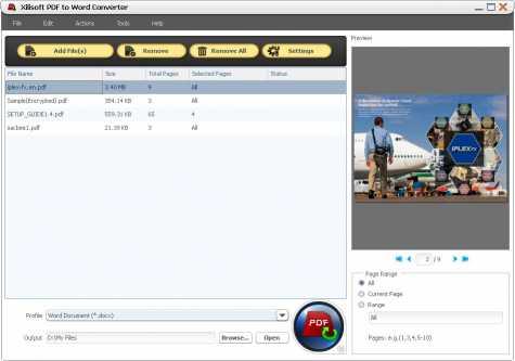 Xilisoft PDF to Word Converter