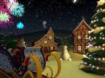 Download Xmas Holiday 3D Screensaver