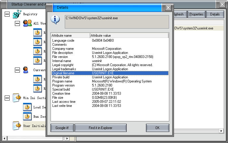 xp startup cleaner