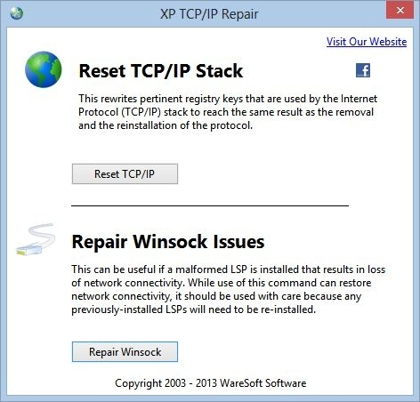 XP TCP/IP Repair - standaloneinstaller com