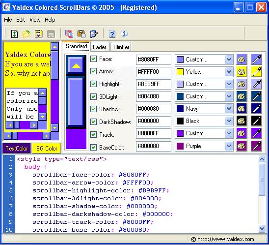 yaldex colored scrollbars 1.2