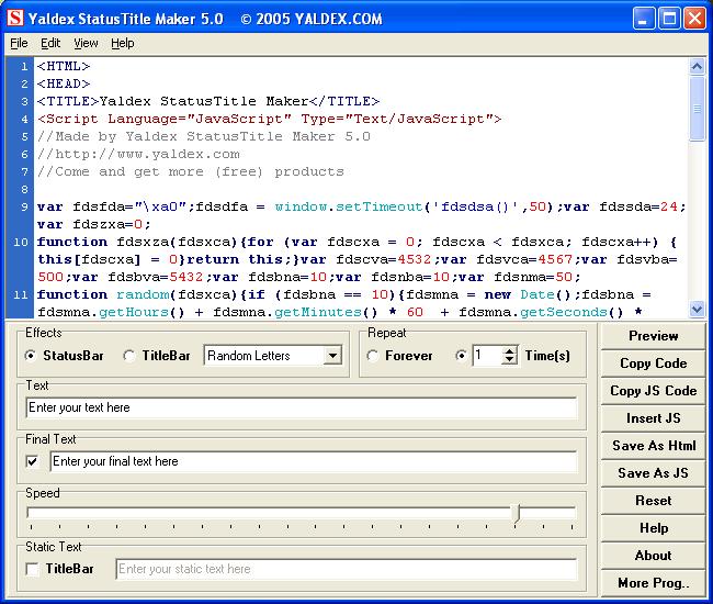 Yaldex StatusTitle Maker 5.0