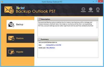 Yodot Backup Outlook PST Software