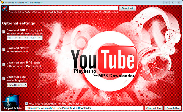 YouTube Playlist to MP3 Downloader - standaloneinstaller com