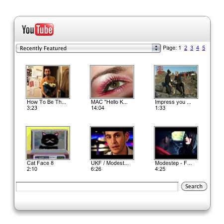YouTube Widget for Mac