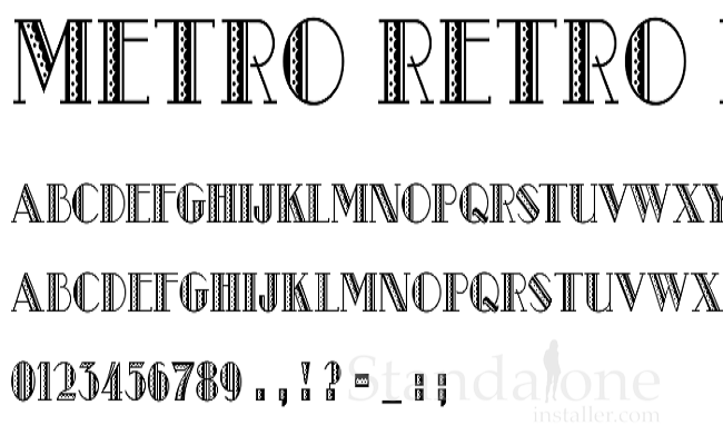this font has a style of 1920s style headline if you really want a break from the typical christmas fonts metro retro can be the right option for you